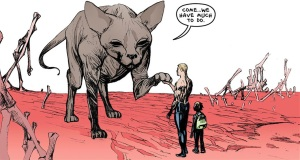 That is one huge cat.