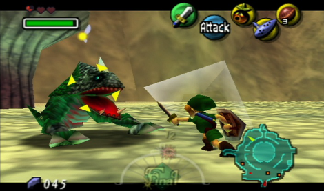 Retains the game controls that Ocarina of Time nearly perfected.