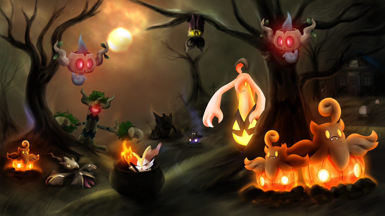 Top picks the five most viable ghost type pok mon in the sixth generation metagame mahou tofu - Pokemon ghost wallpaper ...